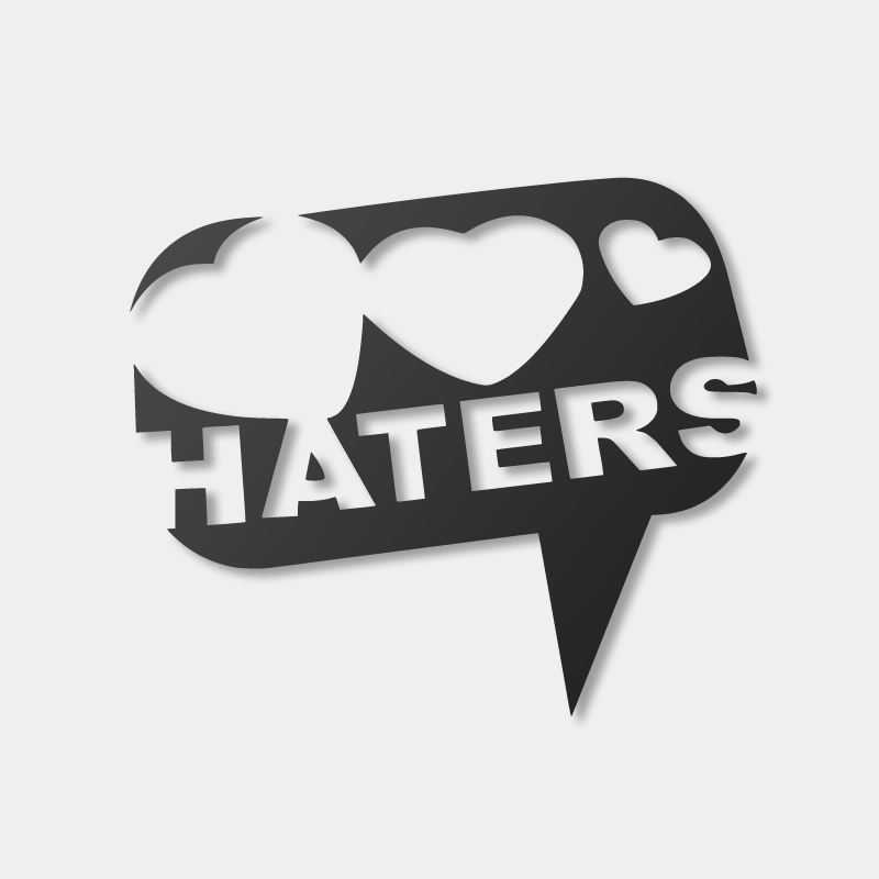Haters Hearts - Sticker