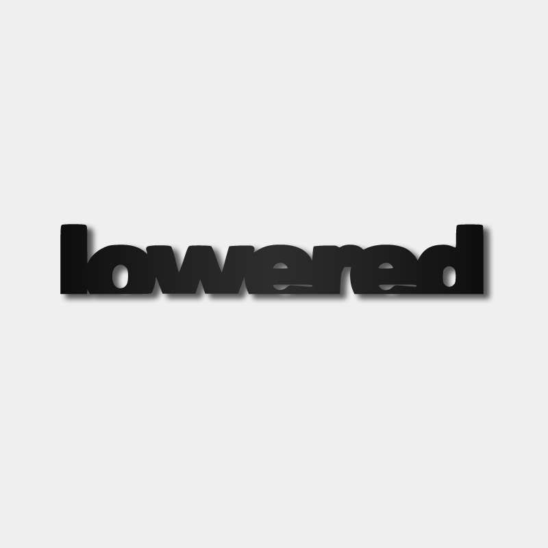 Lowered - Sticker